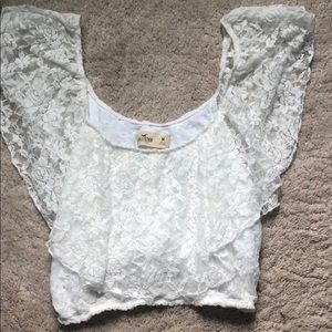 BRAND NEW Lace white crop top